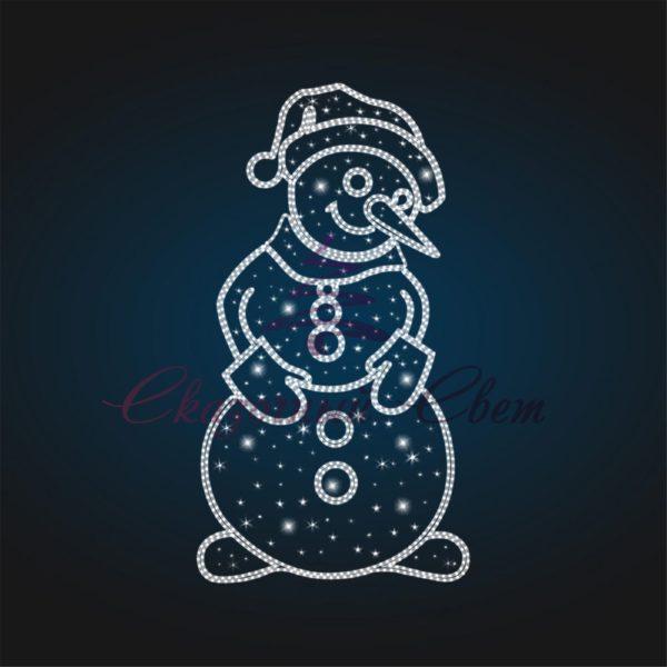 Панно светящееся Снеговик PA 03 - Ш 2,40 м х В 4,50 м 1