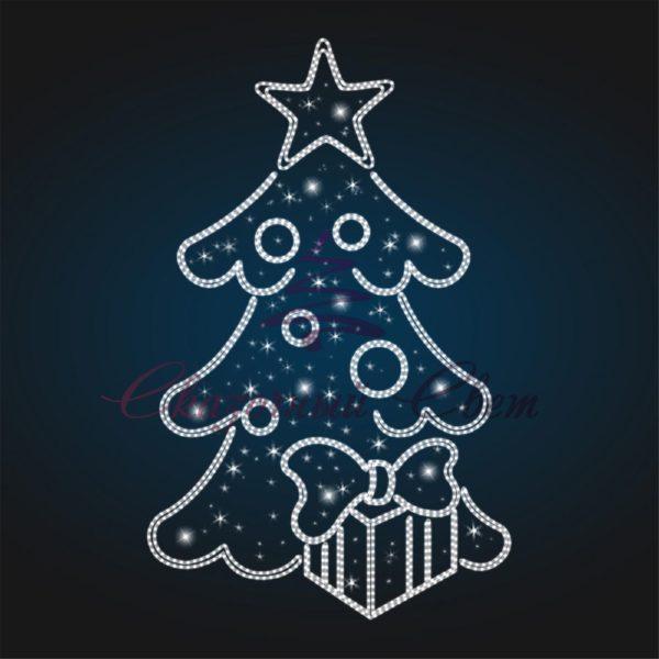 Панно Новогодняя елка В 4,5 м х Ш 2,8 м - PA 04 1