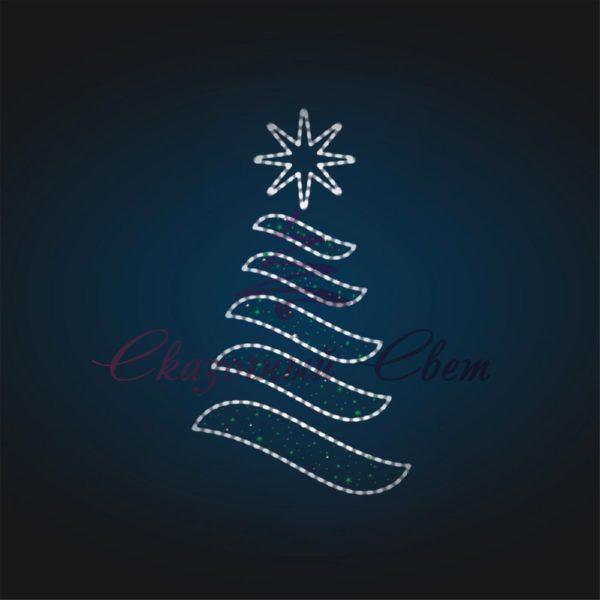 Панно новогоднее Елка В 6,1 м х Ш 3,5 м - PA 05-2 1