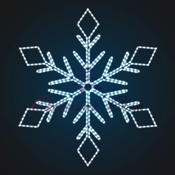 Световое панно Снежинка В 1,9 м х Ш 1,7 м - PA 10-1 1