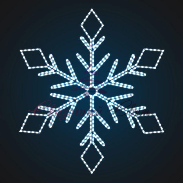 Световое панно Снежинка PA 10-2 - Ш 2,10 м х В 2,40 м 1
