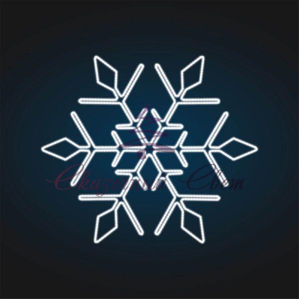 Световое панно Снежинка В 2,4 м х Ш 2,5 м - PA 14-3 1