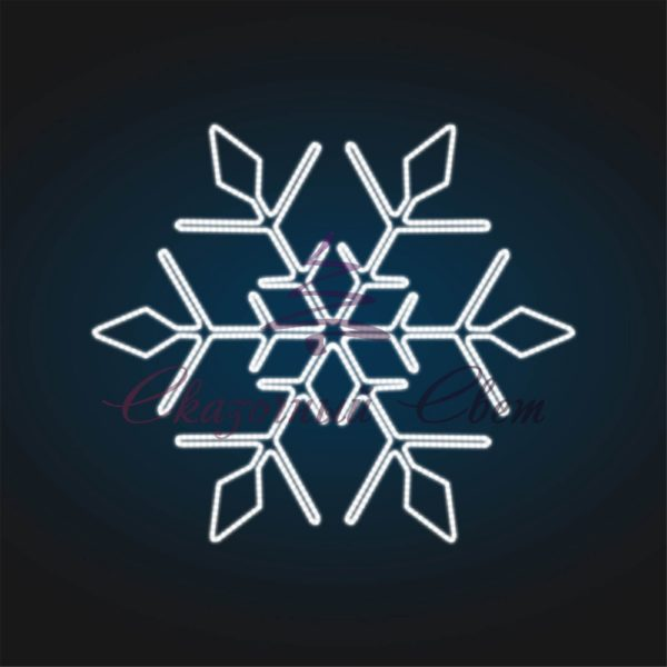Световое панно Снежинка В 0,6 м х Ш 0,7 м - PA 14 1