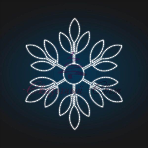 Световое панно Снежинка В 1,5 м х Ш 1,3 м - PA 21 1
