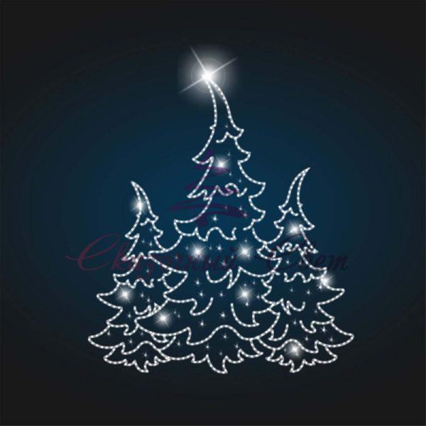 Фасадное новогоднее панно Елка В 4,0 м х Ш 3,5 м - PA 23 1