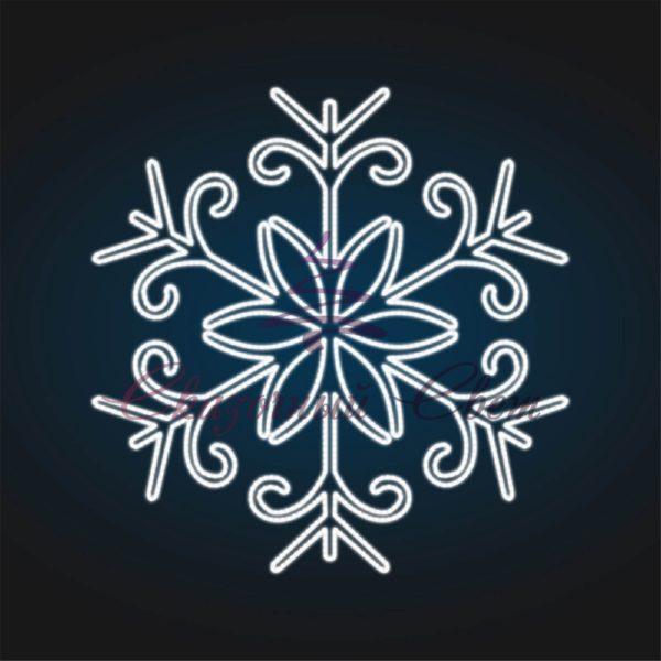 Световое панно Снежинка В 1,5 м х Ш 1,4 м - PA 26 1