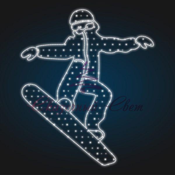 Панно сноубордист В 2,7 м х Ш 2,3 м - PA 404 1