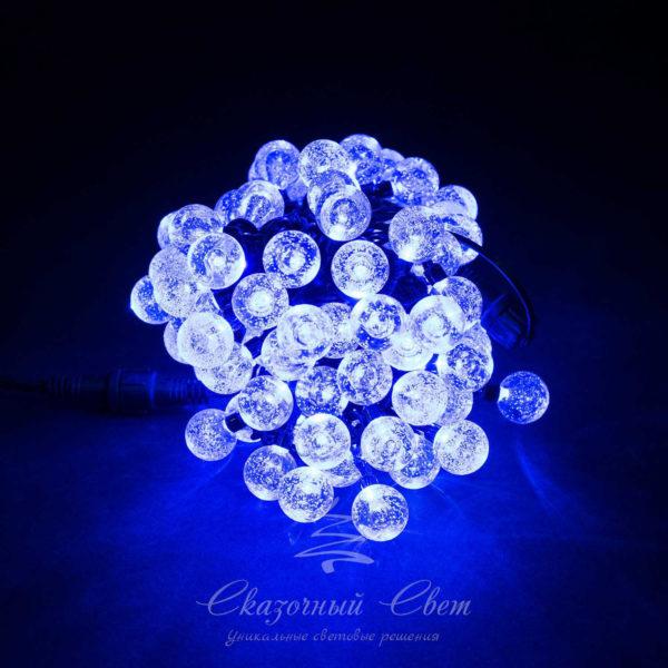 Светодиодная гирлянда Bubble Ball 10 м, черный провод, 100 led, синий 1