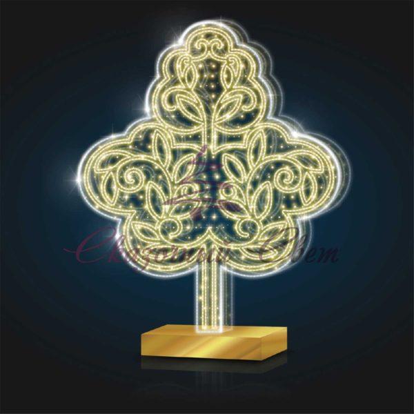 Световое дерево 3м PL 25 - Ш 2,30 м х В 3,00 м х Г 1,00 м 1