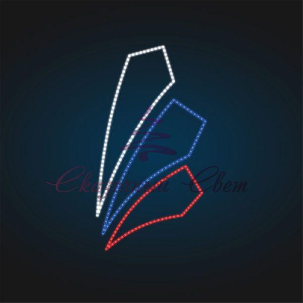 Светодиодная консоль RU 02 - В 1,8 м х Ш 0,8 м 2
