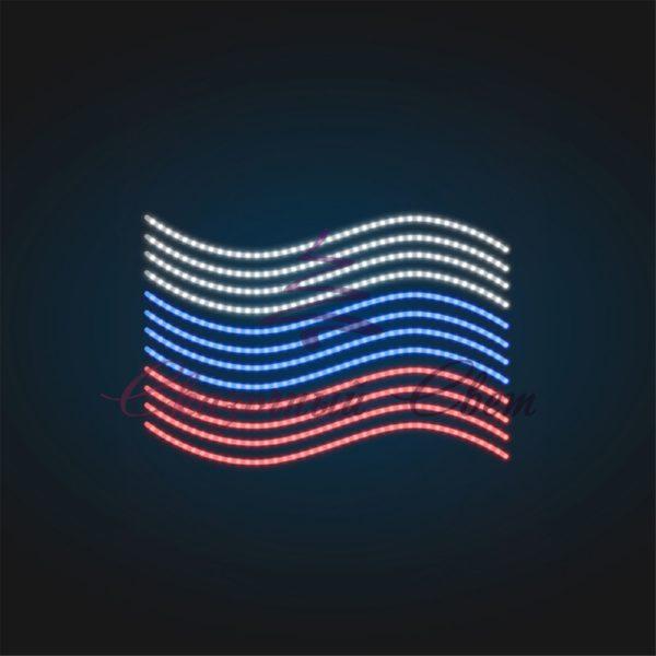 Консоль праздничная Флаг России В 1,4 м х Ш 2,0 м - RU 11 1