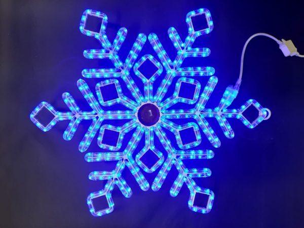 Снежинка Rich LED ПРЕМИУМ, 70 см, синяя 1