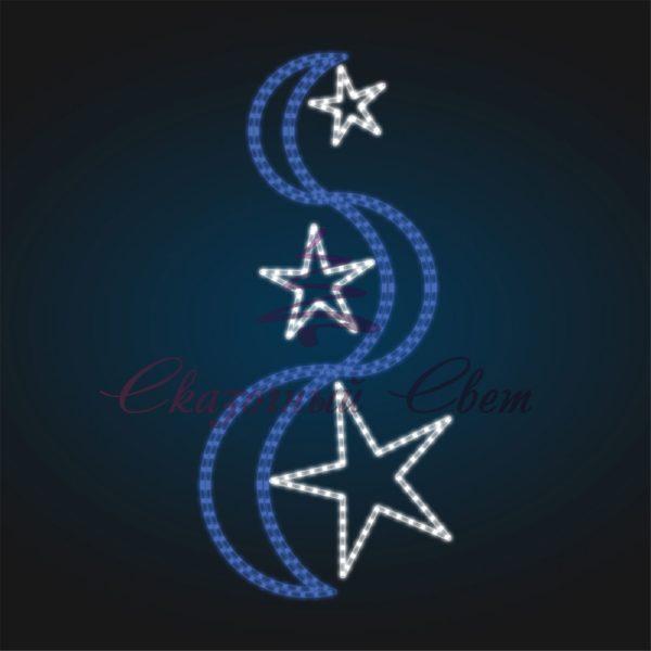 Консоль Лента и три звезды В 2,0 м х Ш 1,0 м - ST 39 1