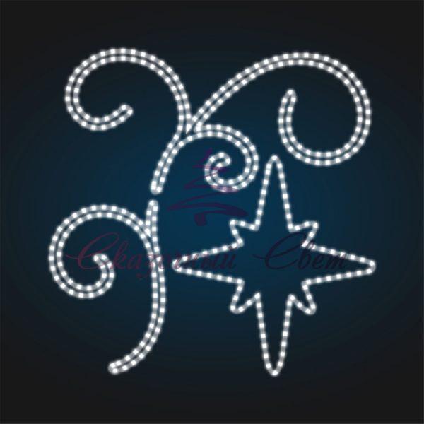 Консоль Ветка со звездой ST 43 - Ш 1,20 м х В 1,20 м 1