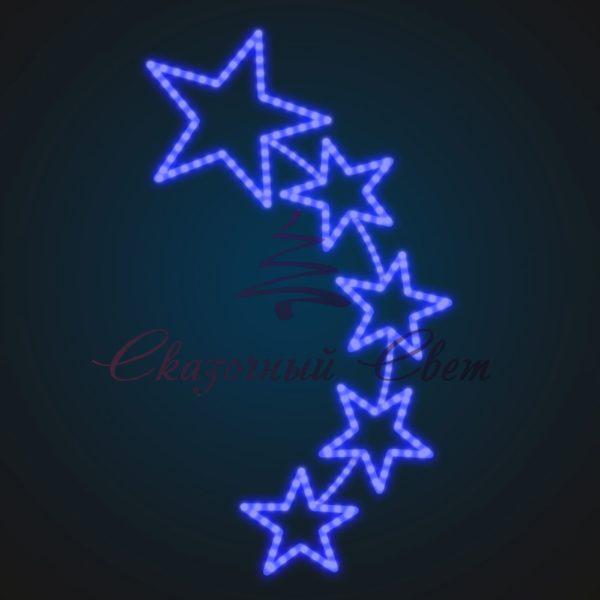Световая консоль Пять звезд В 1,5 м х Ш 0,8 м - ST 49 1