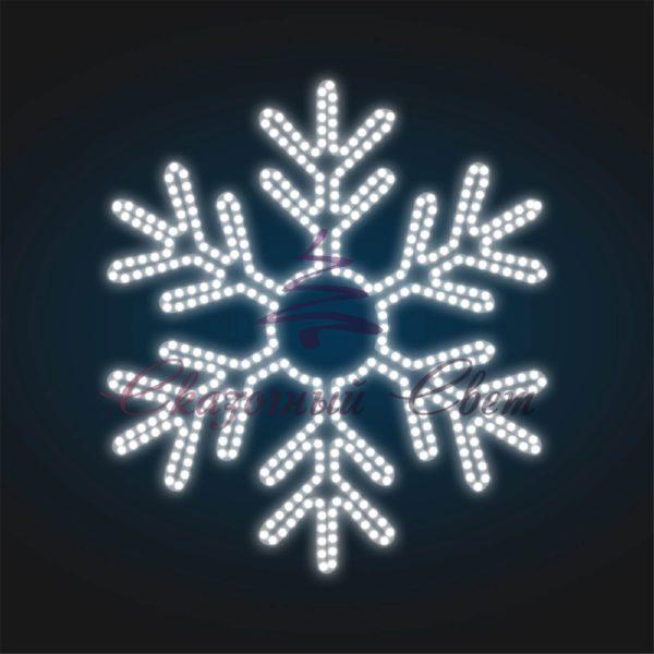 Светодиодная снежинка В 0,7 м х Ш 0,8 м - SZ 01 1